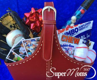 Batter Up Basket - Your baseball player will love this Easter basket stuffed with everything that reminds them of a day at the ballpark!