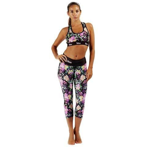Tikiboo Neon Flower Set #Activewear #Gymwear #FitnessLeggings #Leggings #Tikiboo #Running #Yoga