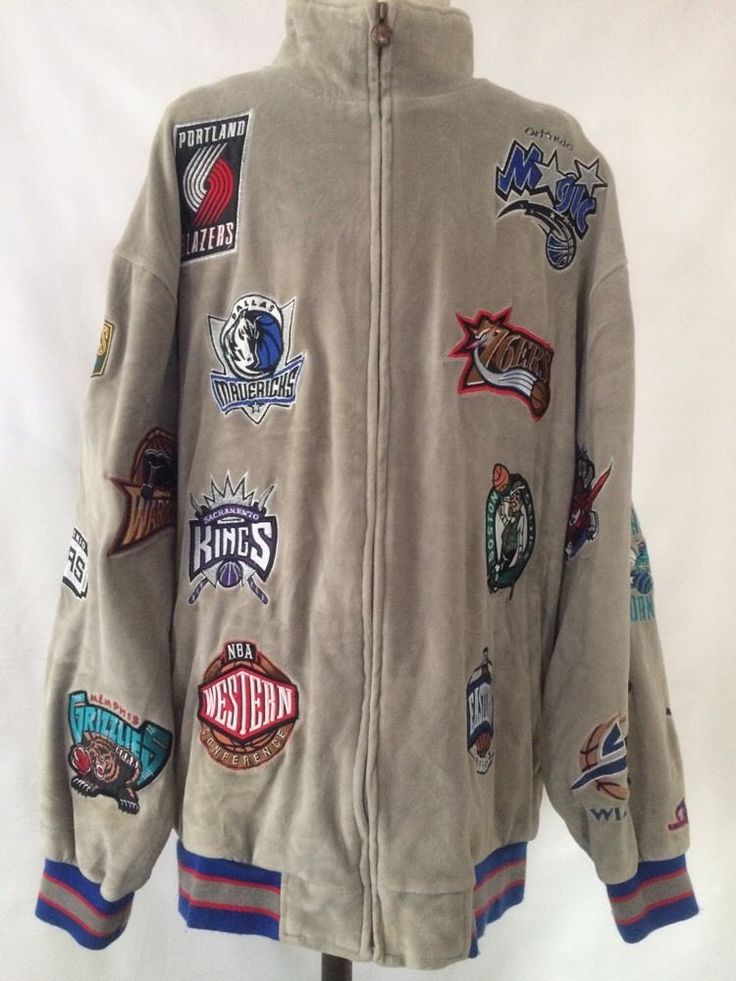 Official NBA Basketball Champions Team Patches Velour Warm Up Suit Men's- XL #NBATracksuits #NBA #Basketball