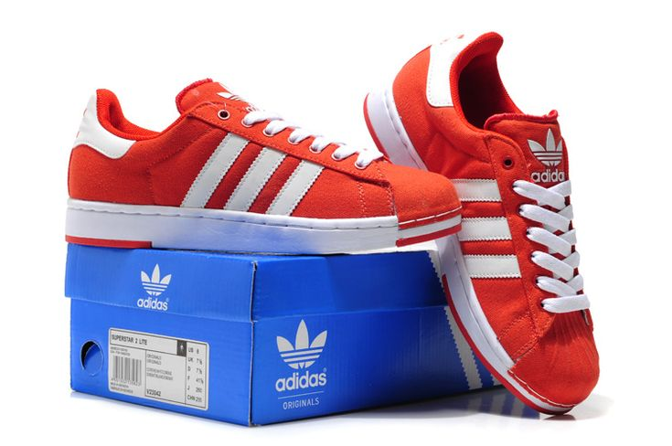Adidas Superstar 2 Lite Md Sole Shoes USA Sale Red White Women ...