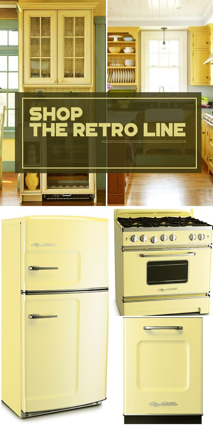 Retro appliances with modern appeal. Big Chill retro fridges, stoves and dishwashers come in eight vibrant colors—and more than 200 custom shades. Click to discover more today! #Retro #BigChill