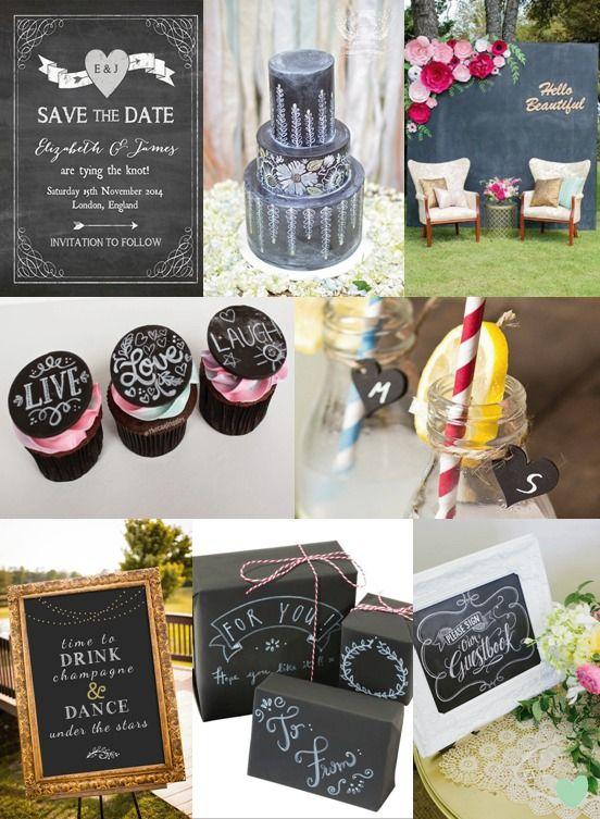 #Chalkboard #Wedding Styling Mood Board from The Wedding Community