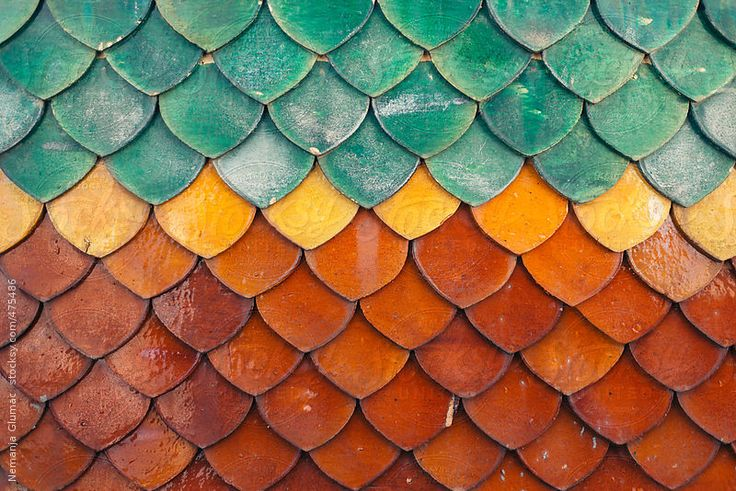 Colourful roof tiles typical for Thai Buddhist Temples. This particular one was shot at Wat Hua Lampong in Bangkok, Thailand.