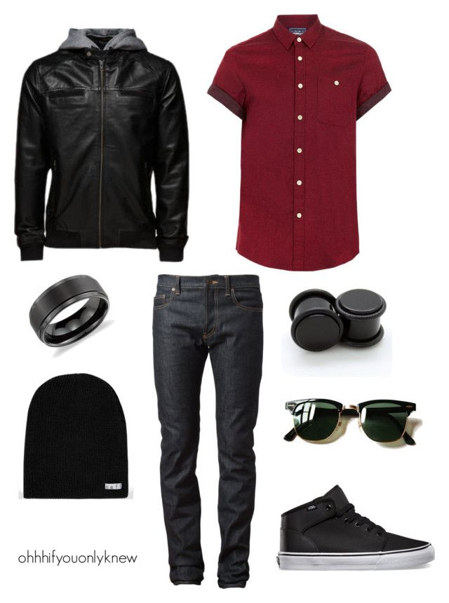 """""""Untitled #234"""" by ohhhifyouonlyknew on Polyvore featuring Yves Saint Laurent, Topman, Jack & Jones, Ray-Ban, Blue Nile and Neff"""