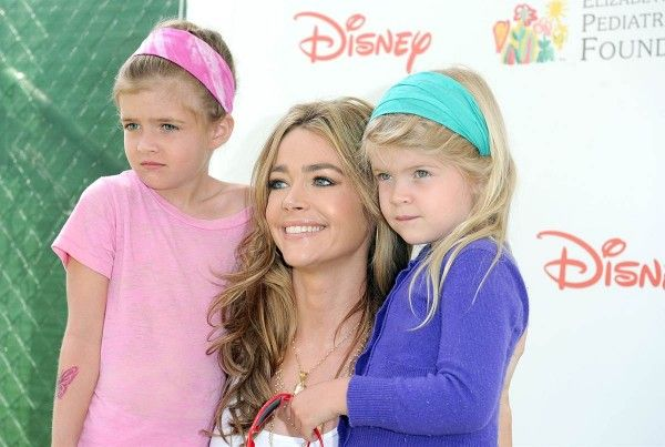 Denise Richards with daughters Lola and Sam, also Charlie Sheen's kids