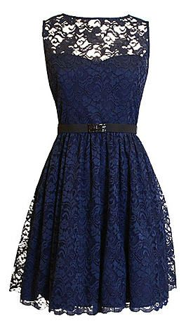 Love it! Blue lace dress