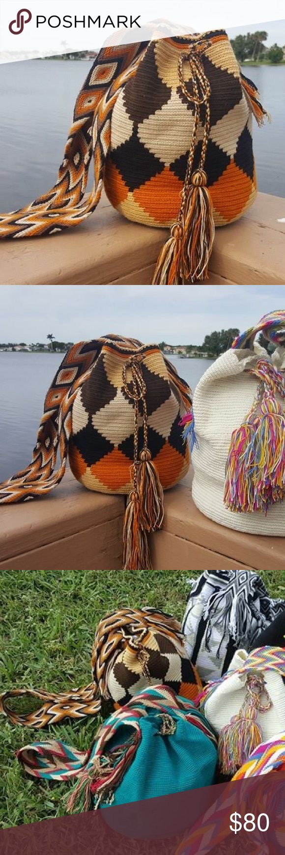 Ethnic wayuu ️handmade bag   Black Friday SALE  // Authentic new luxury mochila bag. ️handmade by Indian wayuu community of Colombia. Each bag is one of a kind and made with absolute skills and dedication. Each bag take around 20 days to make. Shakira, Katie perry and Monaco princes use wayuu bags Bags Shoulder Bags