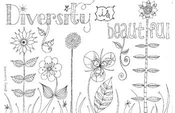diversity children coloring pages | This colouring page is best suited for grade 4 students ...