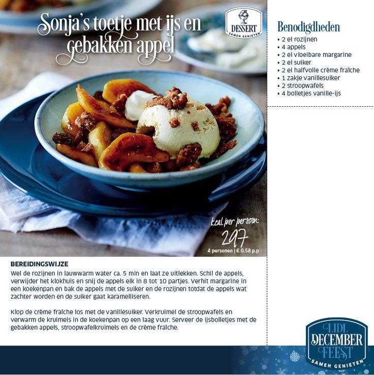 Sonja's toetje met ijs en gebakken appel - Lidl Nederland