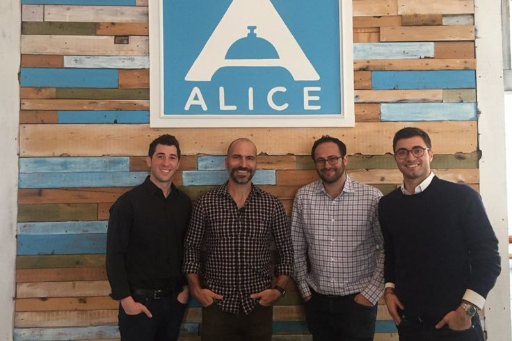 Expedia Leads $26 Million Alice Investment in Hotel Tech Push  In April 2017 Expedia CEO Dara Khosrowshahi visited the Alice headquarters near Madison Square Garden in New York City. He is pictured here with the startup's founders. Shown from left to right are CEO Justin Effron; Khosrowshahi; chief technology officer Dmitry Koltunov; and president Alexander Shashou. Alice  Skift Take: Alice is now majority-owned by Expedia. That brings heft to its dream of becoming the largest data machine…