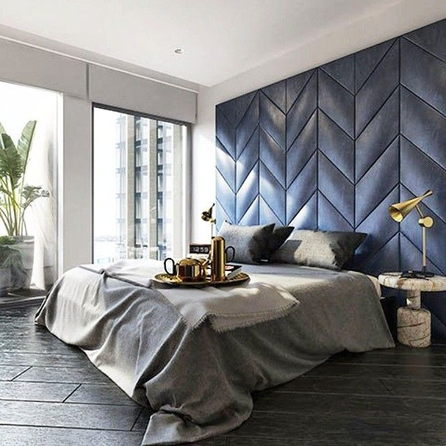 "46 Likes, 3 Comments - Alexandra Kidd Design (@alexandrakidd) on Instagram: ""Who doesn't love a bit of #chevron ? Especially when it's a gorgeous blue upholstered wall by…"""