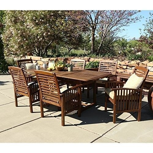 Details about Outdoor Patio Dining Set 7 Piece Acacia Wood Furniture Deck Table  Chairs Garden. Best 25  Acacia wood furniture ideas on Pinterest   Acacia wood