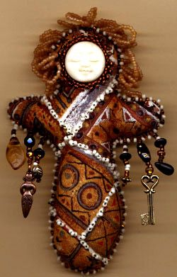 Beaded doll by Belinda Schneider