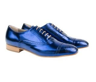 The classic habbot derby brogue, re-imagined this winter season in electric blue or statement fuscia pink leather. Crafted by hand in Italy, with full kid leather lining and brushed leather sole. Heel height: 20mm heel with 5mm mid-sole Italian made shoes. Australian designed. Italian Leather.