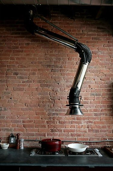 I really cant stand the look of a cooker hood so i need to re-design one my self, this is inspiration Industrial Vent Cutler Townhouse