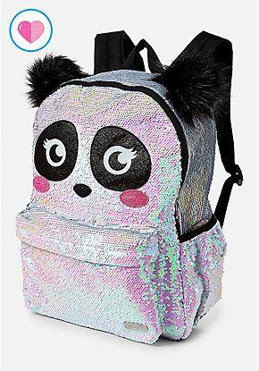 Panda Flip Sequin Backpack  5998b3c0fa4fb