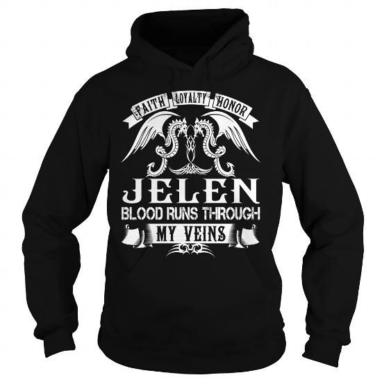 Awesome Tee JELEN Blood - JELEN Last Name, Surname T-Shirt T shirts