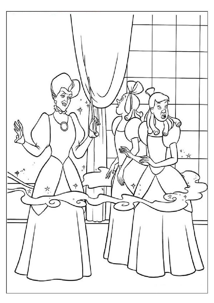 65 best Coloring Pages (Cinderella) images on Pinterest