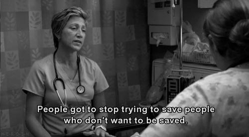 This is so incredibly true! Nurse Jackie