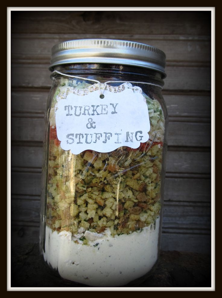 Here is a holiday meal in a jar recipe for your long term food storage Turkey and Stuffing…Carla Grytdal