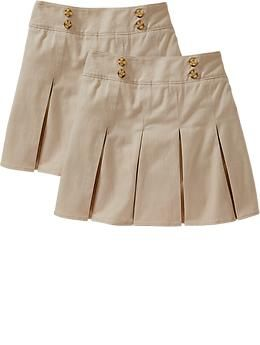 Girls' Pleated Uniform Skort from Old Navy, a cute look for a schoolgirl (or a former schoolgirl)!