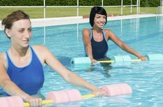 Hidroginástica melhora resistência e ajuda na autoestima. #fitness #hidroginastica