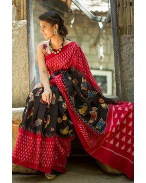 Silk Designer Saree Wholesale Surat Saree Saree Kalamkari Saree