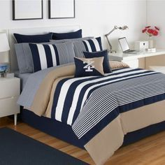 Buy Izod® Classic Stripe Twin XL Comforter Set from Bed Bath & Beyond