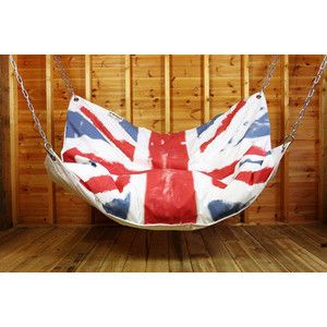 Union Jack bean bag hammock