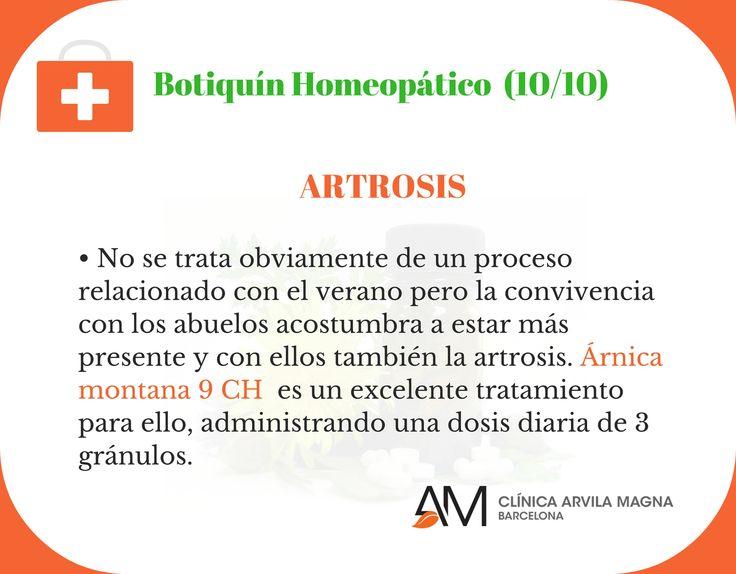 Con este consejo cerramos el ciclo de propuestas para el Botiquín Homeopático de verano con un remedio para paliar las molestias derivadas de la artrosis. Como menciona el Dr. Víctor Oliveras, no es un problema del verano, pero con la proximidad de nuestros mayores estos días lo vemos más de cerca.