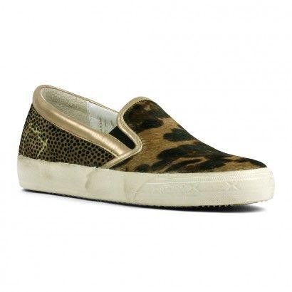 PHILIPPE MODEL SLIP-ON PONY FANGO GOLD