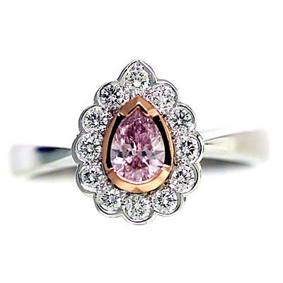'Halo' Engagement Ring - Pink Diamond - Diamond Imports