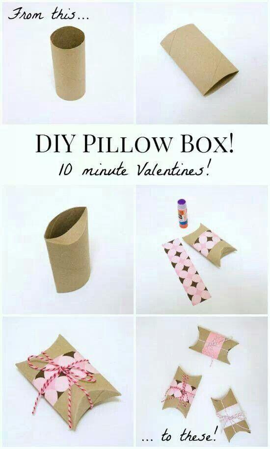 Einfach kleine DIY Verpackung aus #Klorollen, #Geschenk, #Muttertag Mehr