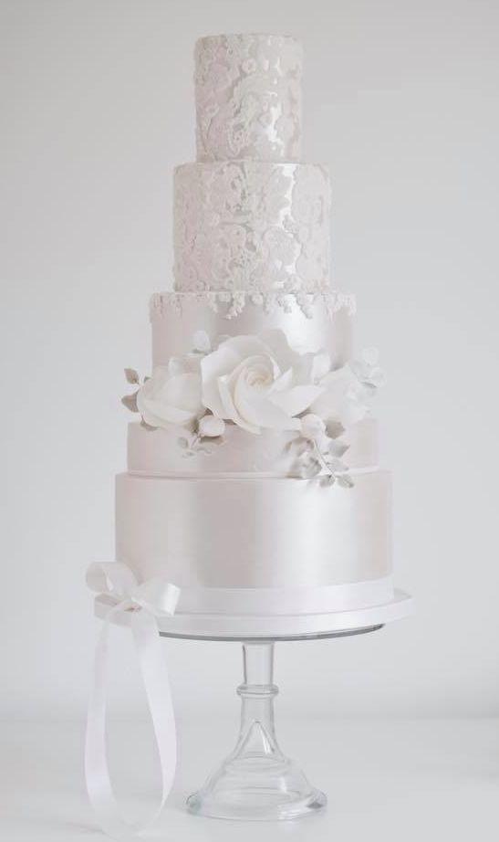 Featured Cake: Cotton & Crumbs; Wedding cake idea.