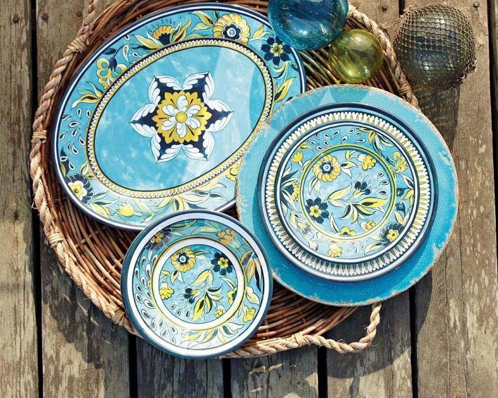 New Dishes At Williams Sonoma   La Med Melamine Dinner Plates
