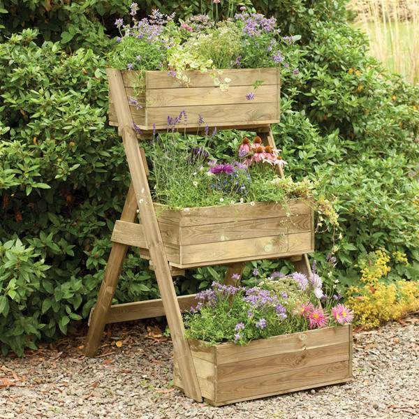 Forest Garden Cascade Wooden Raised Vegetable Bed Planter ...
