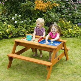 Tesco direct: Plum Surfside Sand Pit and Water Wooden Picnic Table