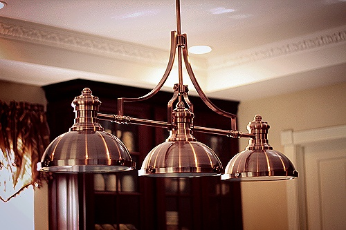 Copper light fixture - I Heart Houses - Victorian Kitchen Before &Afters