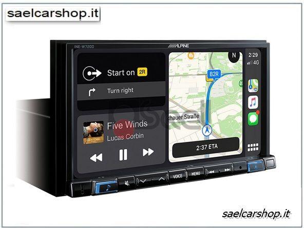 Alpine Ine W720d Navigatore 7 Carplay Android Auto Nel 2020 Con Immagini Navigatore Satellitare Auto