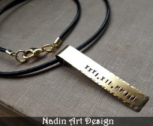 Herren-Halskette. Personalisierte Namenskette von NadinArtDesign auf DaWanda.com