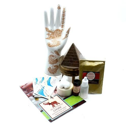 Traditional Henna Kit Henna has served as a symbol of good luck, health and sensuality. The plant has been associated with positive vibes and provides a link to an ancient age full of good and bad spirits. High Quality, Fresh, All Natural Henna Kit contains:  Mixing Sticks, Sugar to keep the henna paste moist, 10 Alcohol Swabs to clean and prepare the skin for henna application, Assortment of Cotton Balls, Cotton Swabs and Toothpicks to aide in the application, touch ups,and sealing of henna…