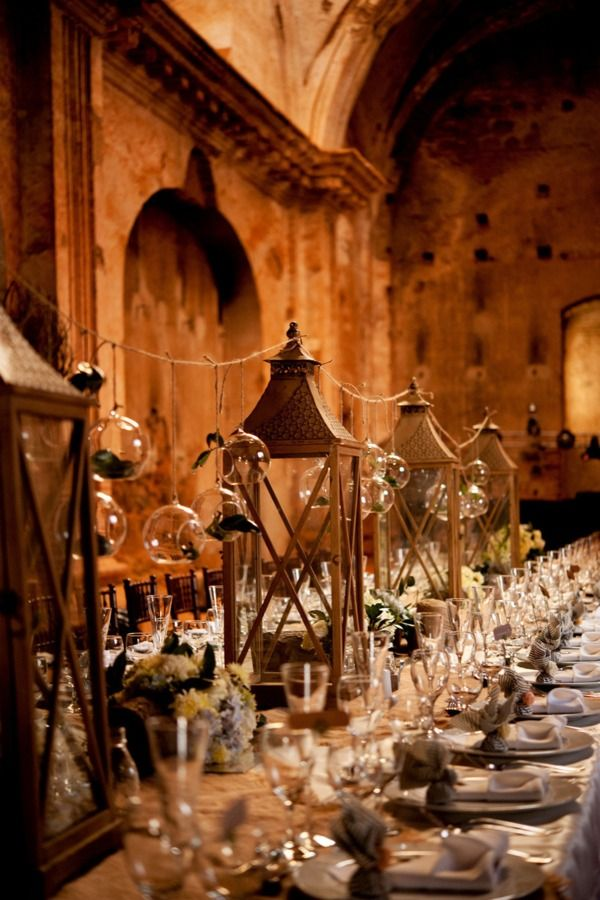 Gorgeous Antique Lanterns And Glass Globes · Guatemala WeddingParty  TablesDinner ... Part 74
