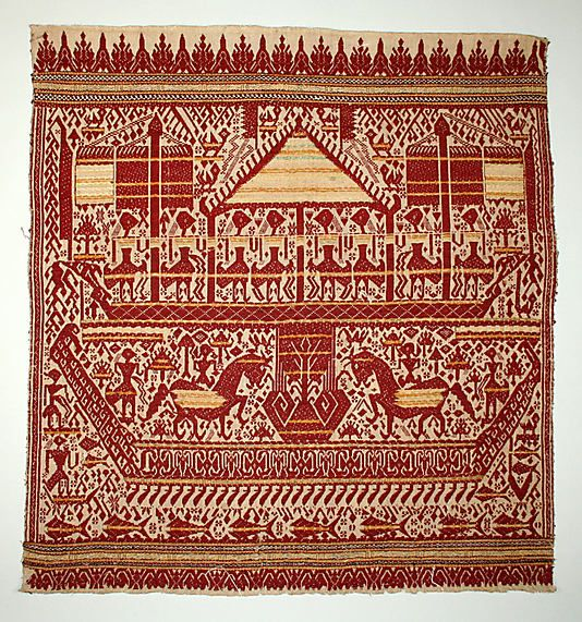 Ceremonial Textile (Tampan)  Date:     19th–early 20th century Geography:     Indonesia, Sumatra, Lampung province