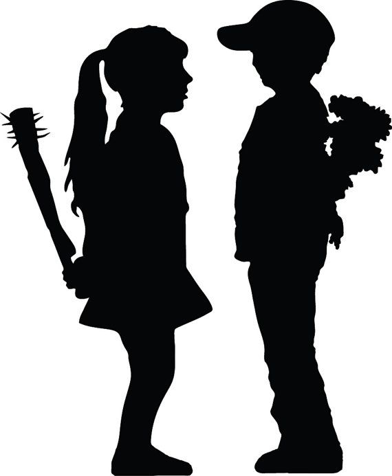 Banksy Art Graffitti Girl vs Boy Young Love Bat with Nails Boy with Flowers Decal Sticker FREE SHIPPING! www.stick-e-decals.com