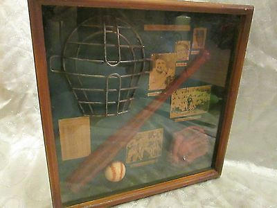 Mlb Vintage Style History Of Baseball Shadow Box Babe Ruth