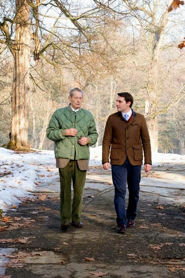 King Michael of Romania and H.R.H. Prince Nicholas of Romania