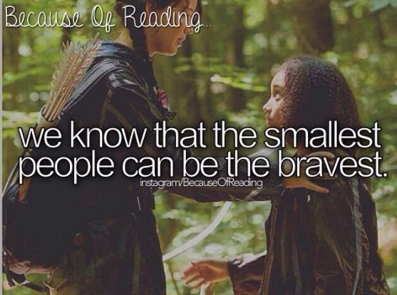 Because of Reading...hunger games rue:(