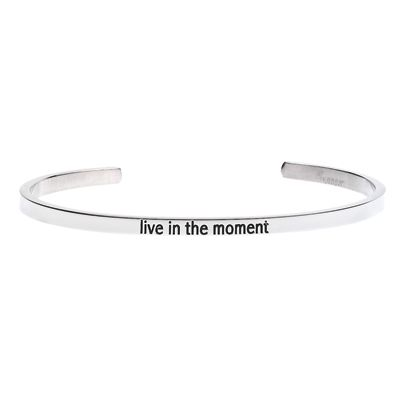 'Live in the moment' #LilyAnneDesigns #bracelet #inspiration #Silver