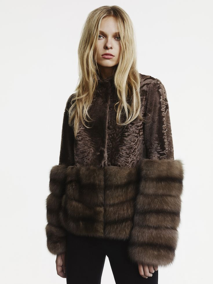 Milady Broadtail and Russian Sable Fur Jacket