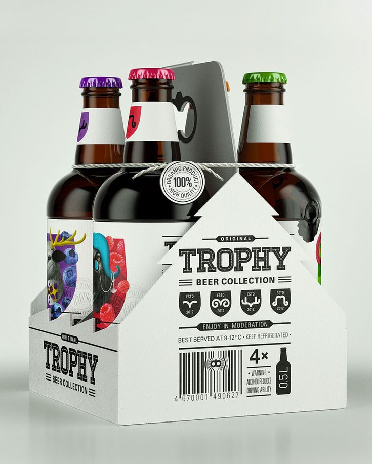 Trophy Beer  #packaging #bottle #animal #typography #colors #beer